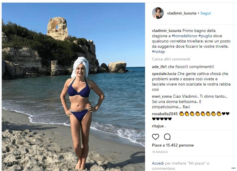 Luxuria, estate su instagram