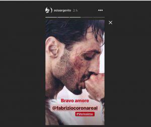 Asia Argento elogia Fabrizio Corona