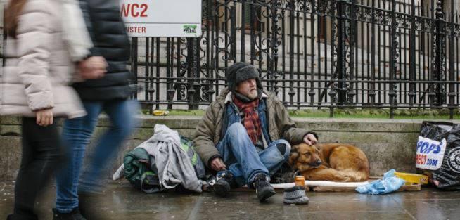 Senzatetto a Londra: oltre 100 italiani