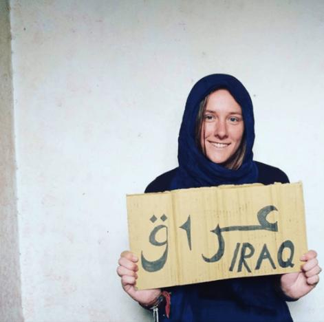 Hannah Bolder fa autostop per l'Iraq