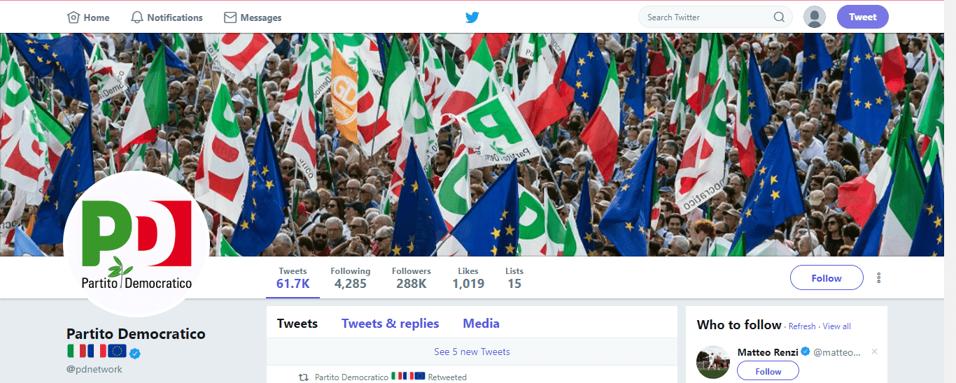 PD sventola bandiera francese