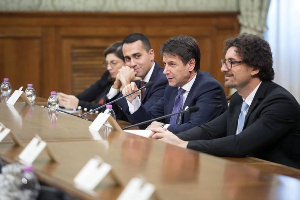 Conte, Di Maio, Toninelli caso Diciotti