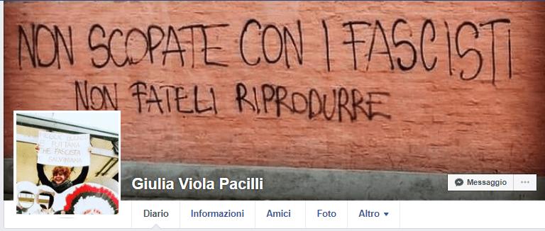 Non scopate con i fascisti - Giulia Pacilli