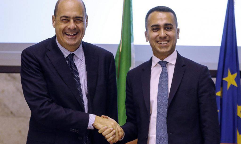 Alleanza Pd-M5s, sereno tra Di Maio e Zingaretti