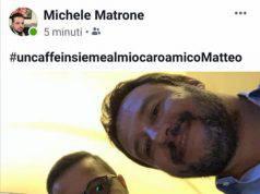Selfie di Salvini con il figlio del boss