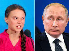 Putin greta cambiamenti climatici
