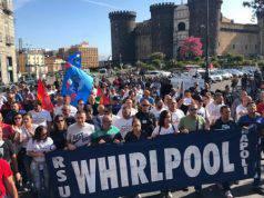 La protesta degli operai Whirlpool Napoli