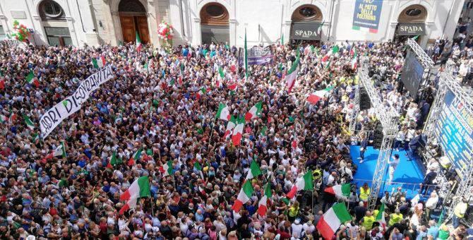 manifestazione lega roma affluenza