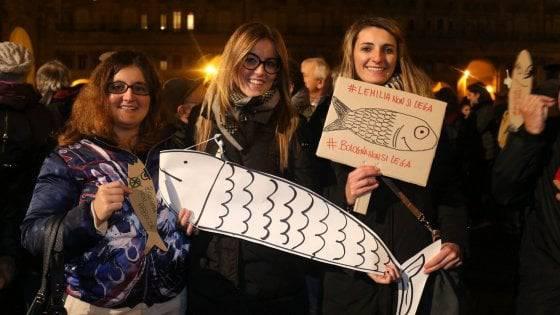 bologna sardine insulti assessora