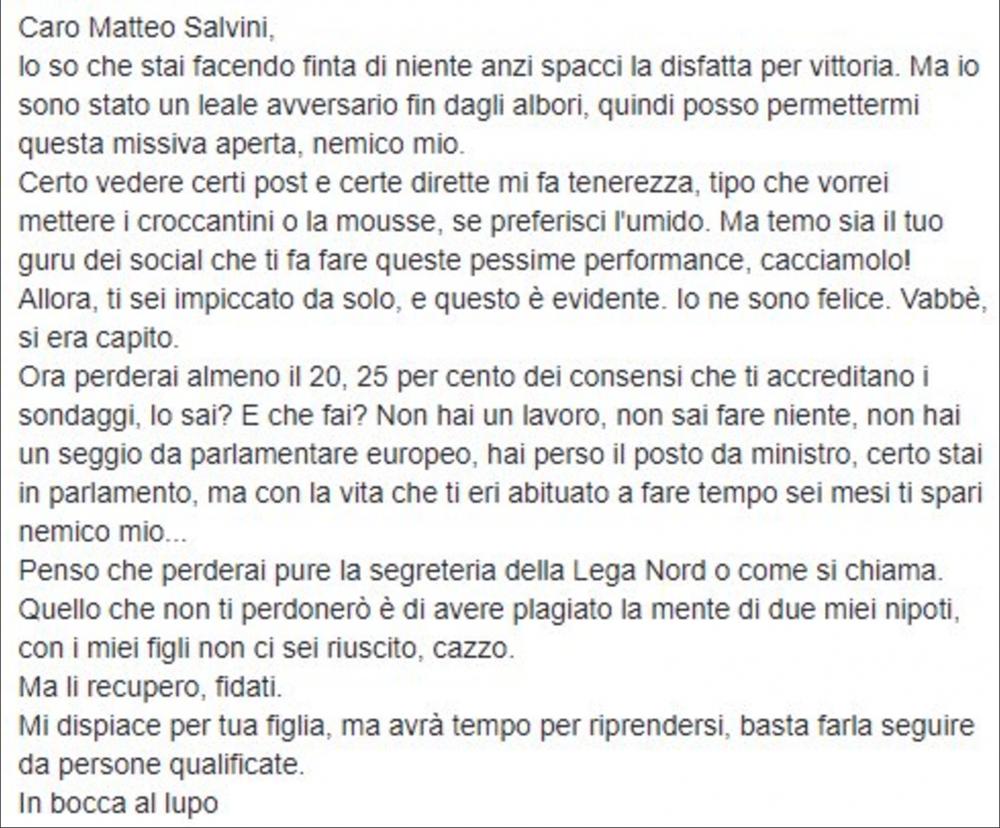 sospeso Sanfilippo Salvini