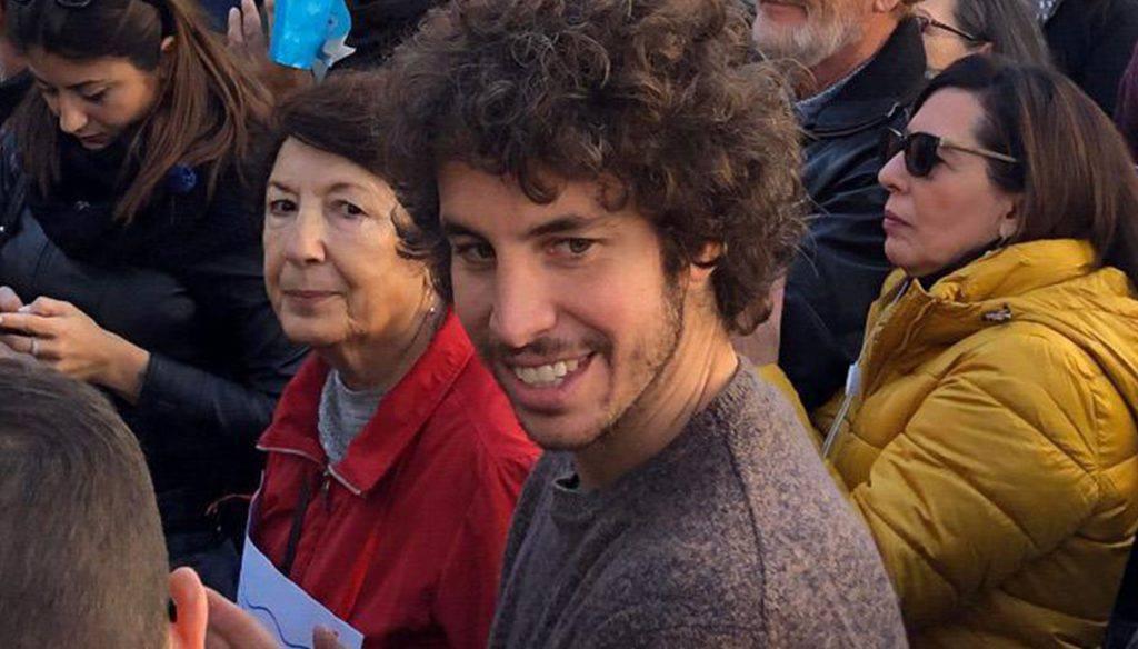 """Santori, in piazza con il candidato PD : """"Sono qui a titolo personale"""" - Leggilo.Org"""
