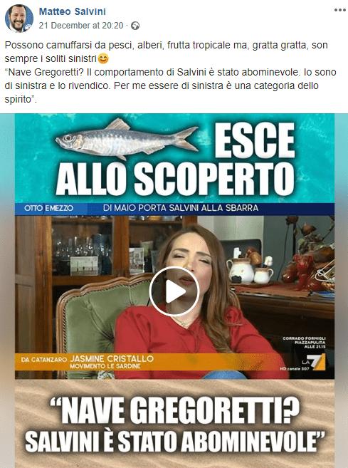 post Salvini su Jasmine Cristallo-Leggilo.Org