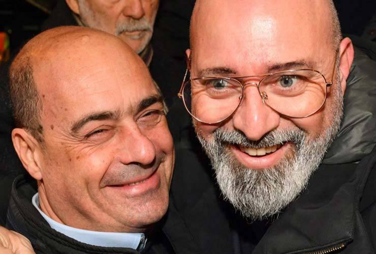 Nicola Zingaretti e Bonaccini