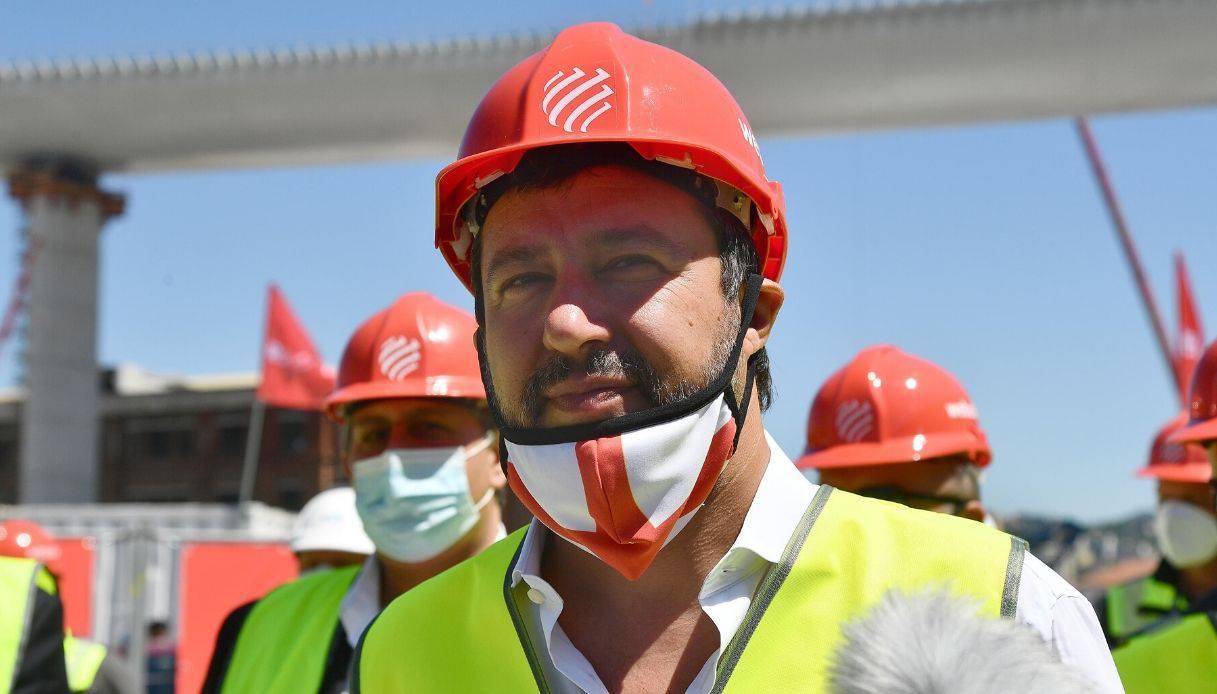 Salvini visita il nuovo viadotto di Genova, PD attacca: usa il ponte per la campagna elettorale - Leggilo.org