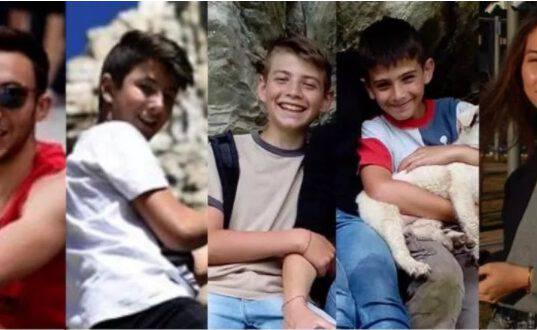 Elia, Nicolò, Samuele, Camilla e Marco: una comunità distrutta per la loro fine