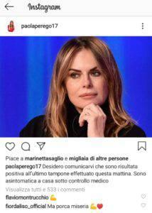 Paola Perego Covid