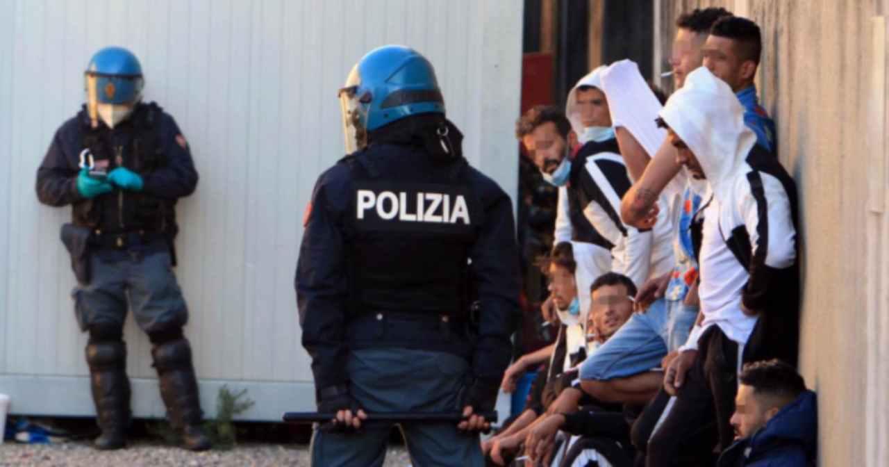Rivolta migranti 23 ottobre 2020