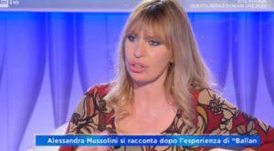 """Alessandra Mussolini confessa: """"A Ballando con le stelle ho avuto paura"""""""