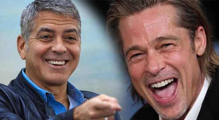 George Clooney scherzo Brad Pitt