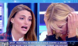 Franceska Pepe attacca Matilde Brandi lacrime confronto