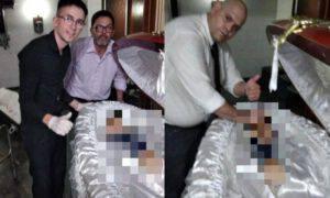 Armando Maradona morte selfie becchini scandalo vergognoso argentina indignata
