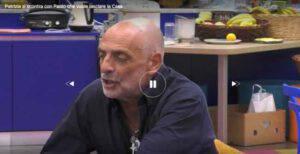 GFVip: Paolo Brosio vuole abbandonare ma Patrizia lo insulta pesantemente-VIDEO