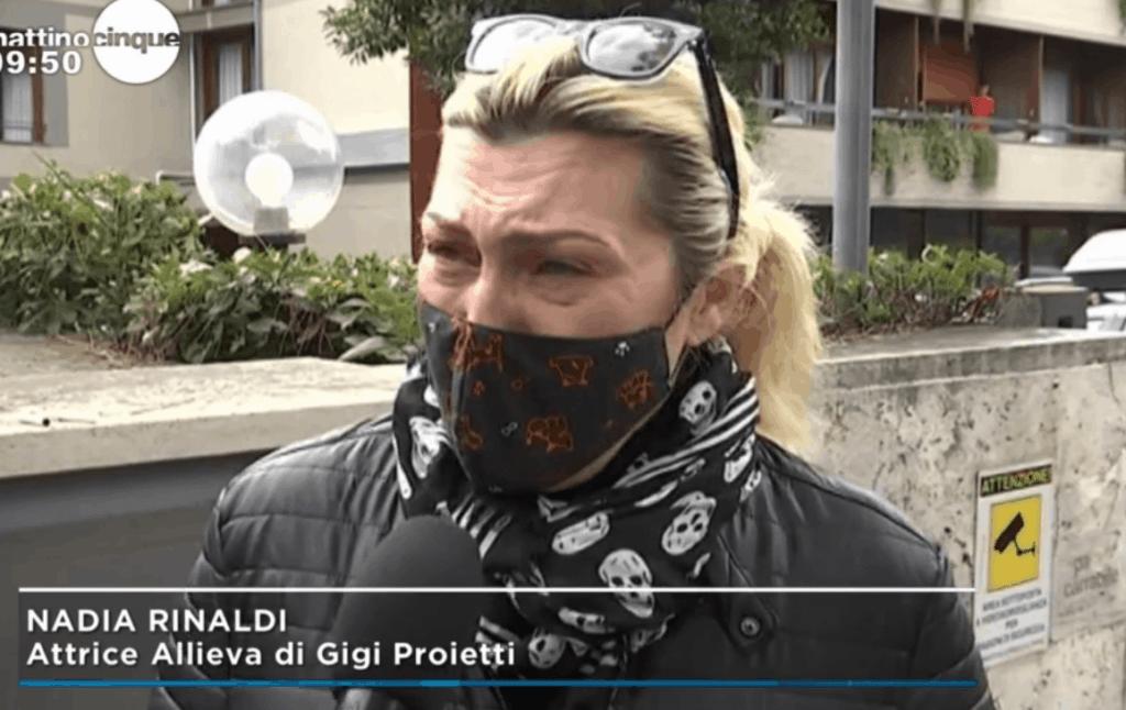 nadia Rinaldi piange Gigi Proietti