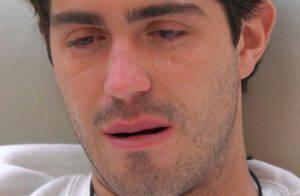 Tommaso Zorzi in lacrime