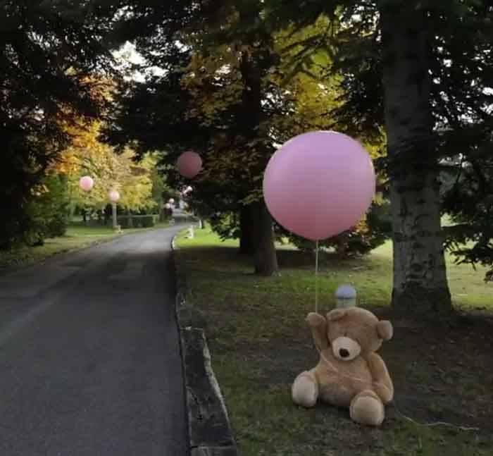 Gianluca Vacchi e la sorpresa per la figlia: palloncini e peluches