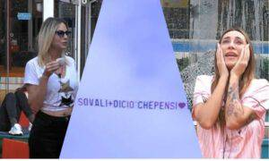 Sonia Lorenzini aereo piange Stefania Orlando