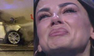 Serena Enardu macchina incendiata incidente foto