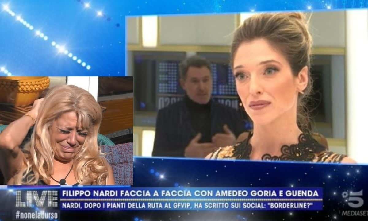 """Live non è la D'Urso: Guenda Goria infuriata con Filippo Nardi """"ci sei o ci fai?"""""""
