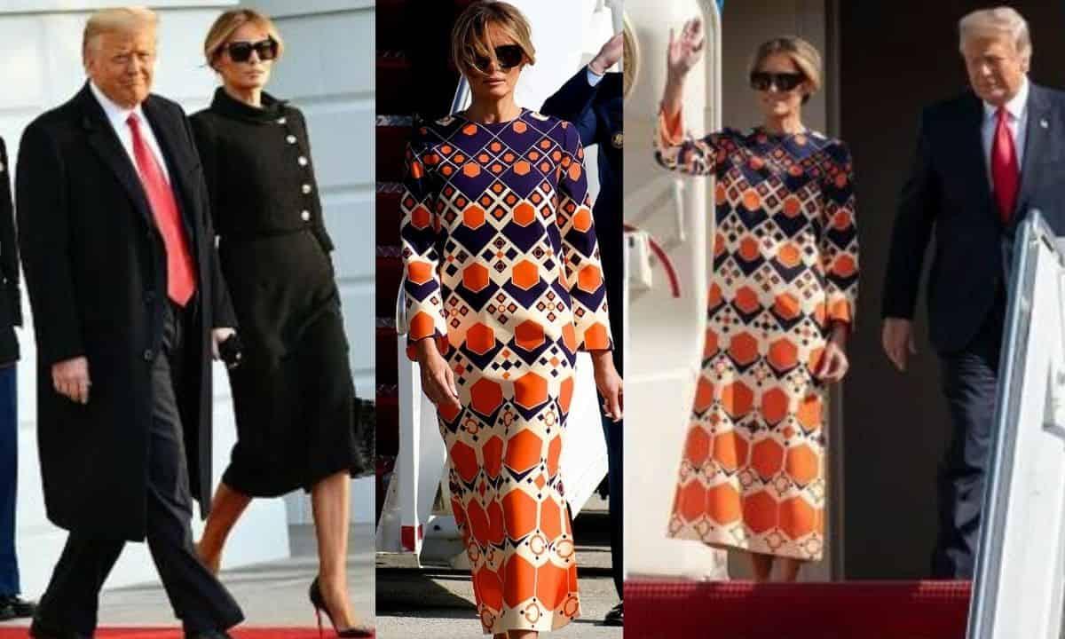 Melania Trump, outfit da urlo per lasciare la Casa Bianca, ma la cifra è scioccante