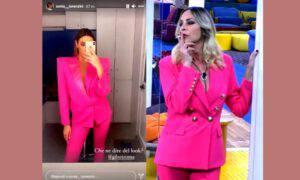 Stefania Orlando Sonia Lorenzini outfit rosa Gf Vip