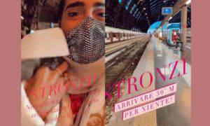 Federico Fashion style lacrime stazione Milano treno