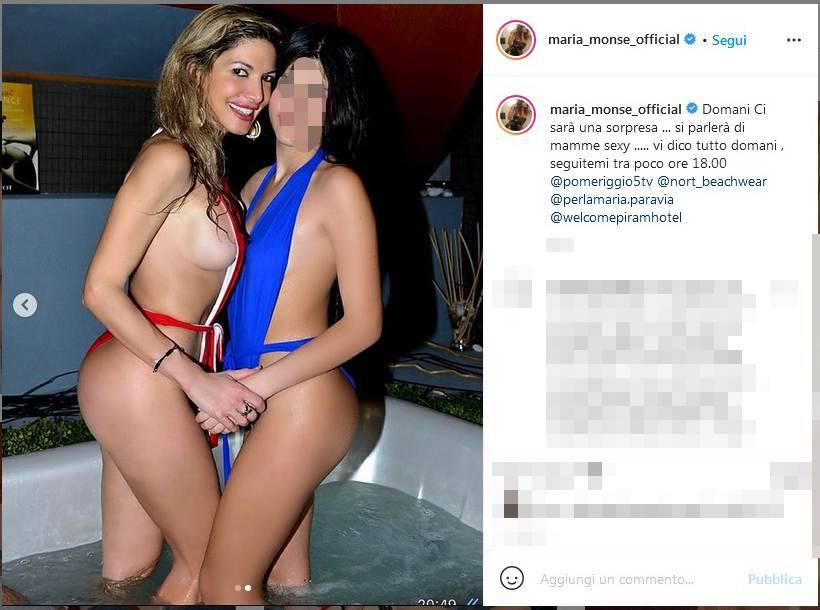Maria Monsè, scatto bollente con la figlia 13enne: Web indignato
