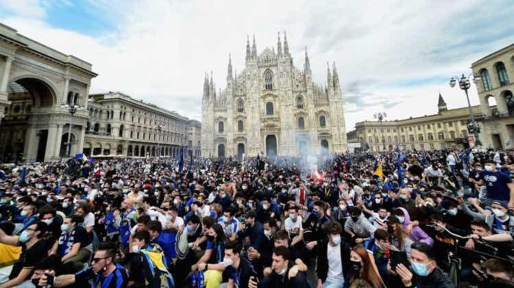 Festeggiamenti Inter 3 maggio 2021 leggilo.org
