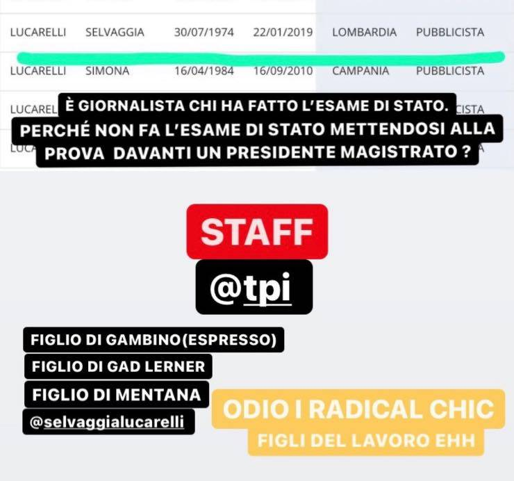Albo dei giornalisti Selvaggia Lucarelli scontro Fabrizio Corona
