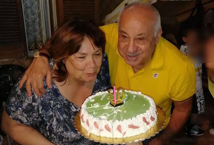 Gabriele Napolitano con la moglie
