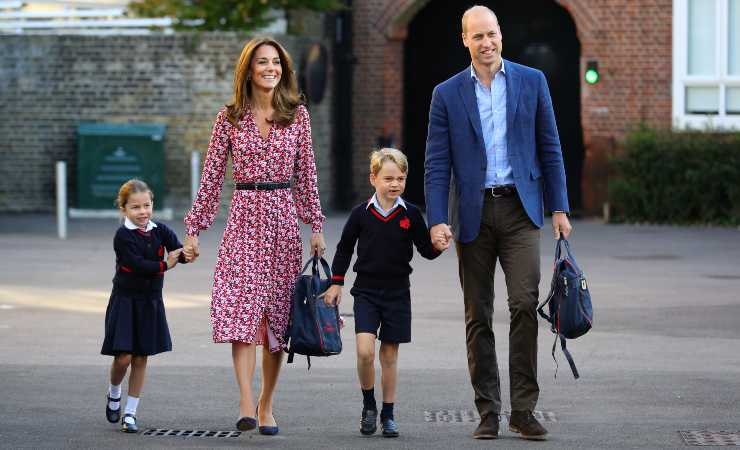 Kate Middleton with Prince Harry and her children (Getty, WPA Pool)