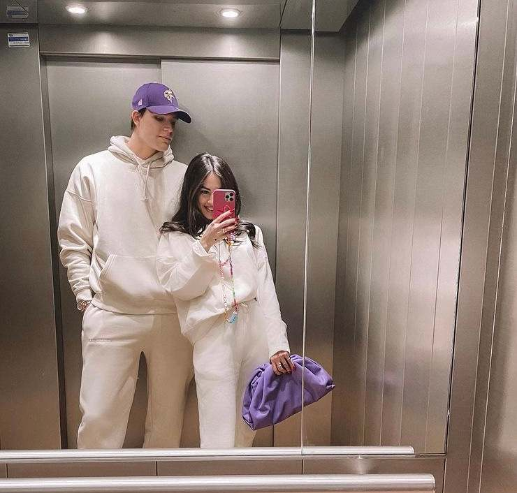 La coppia in ascensore