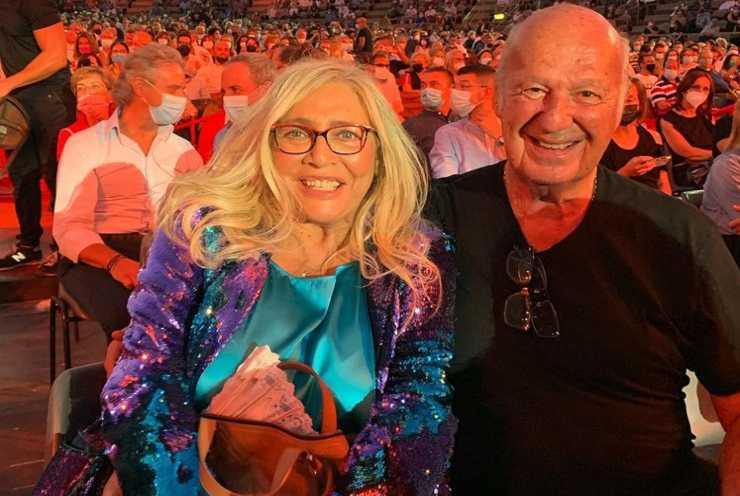 Mara Venier con suo marito Nicola Carrano nel 2021