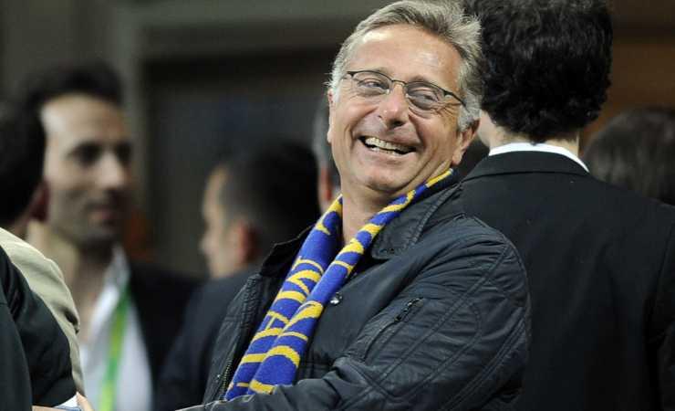 Paolo Bonolis allo stadio (Getty, Claudio Villa)