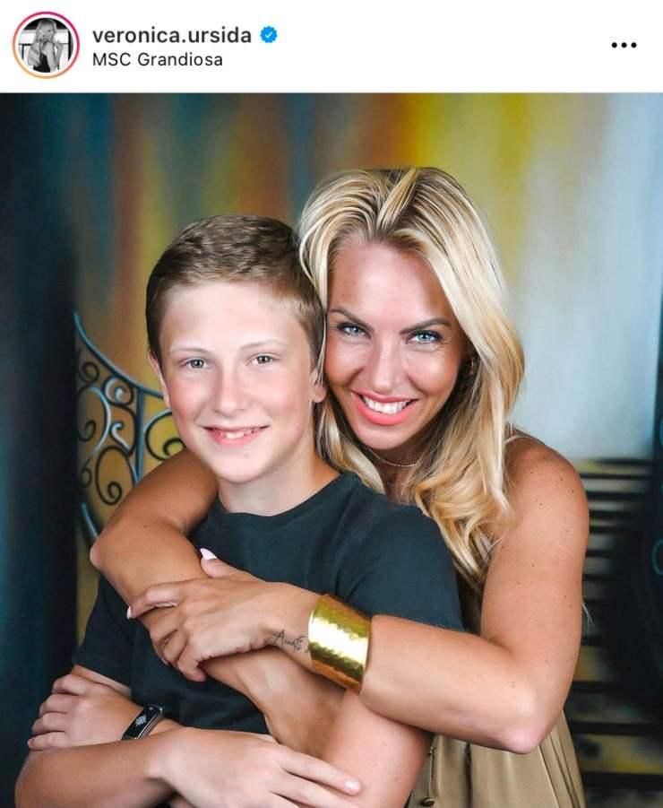 Veronica e suo figlio - Instagram