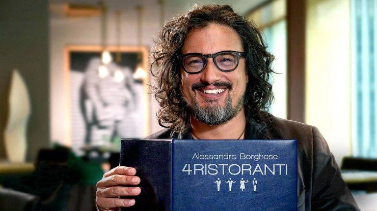 Alessandro Borghese sul set di 4 ristoranti