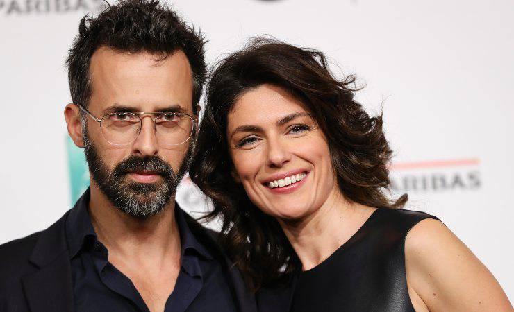 Anna Valle con suo marito Ulisse Lendaro (Getty, Vittorio Zunino Celotto)
