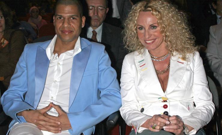 Antonella Clerici con il suo ex Eddy Martens nel 2007 (Getty, Elisabetta Villa)