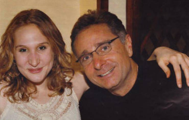 Bonolis and his daughter together