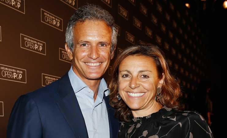 Deborah Compagnoni con Alessandro Benetton (Getty, Andreas Rantz)