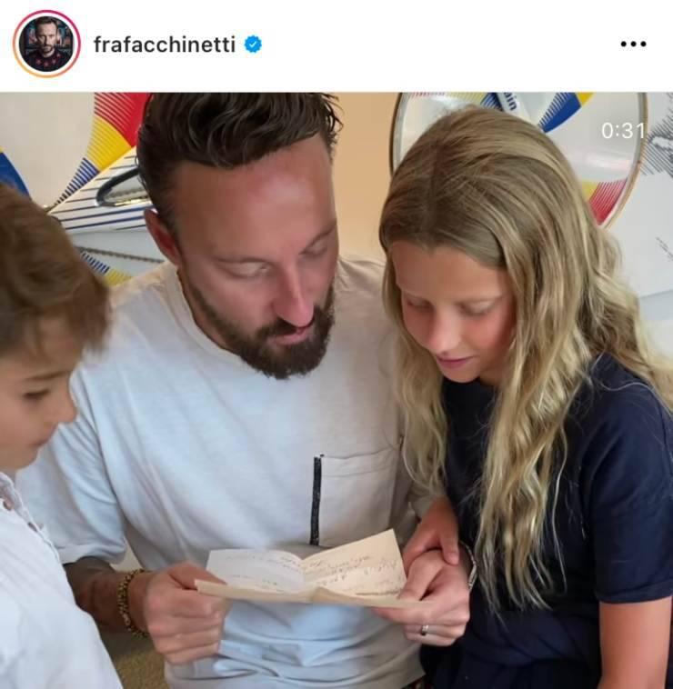 Francesco Facchinetti with his children